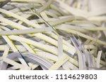 pile of shredded documentary... | Shutterstock . vector #1114629803
