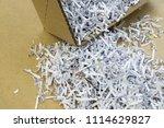 pile of shredded documentary... | Shutterstock . vector #1114629827