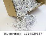 pile of shredded documentary... | Shutterstock . vector #1114629857