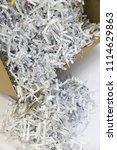 pile of shredded documentary... | Shutterstock . vector #1114629863