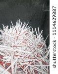 pile of shredded documentary... | Shutterstock . vector #1114629887