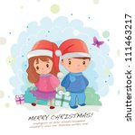 hand drawn series  christmas... | Shutterstock .eps vector #111463217