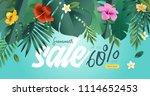 summer sale. vector... | Shutterstock .eps vector #1114652453