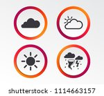 weather icons. cloud and sun... | Shutterstock .eps vector #1114663157