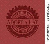 adopt a cat vintage red emblem | Shutterstock .eps vector #1114680317