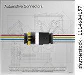 illustration of an automotive... | Shutterstock .eps vector #1114684157