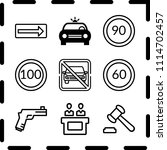 simple 9 icon set of law... | Shutterstock .eps vector #1114702457