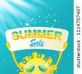 summer sale vector poster or...   Shutterstock .eps vector #1114707407