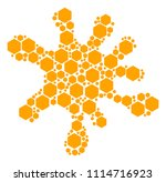 spot area made from filled... | Shutterstock .eps vector #1114716923