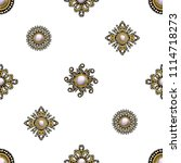 seamless pattern from textile...   Shutterstock .eps vector #1114718273