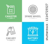 set of vector car service and... | Shutterstock .eps vector #1114725527
