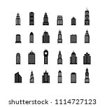 building real state icons | Shutterstock .eps vector #1114727123
