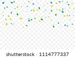 colorful tiny confetti falling... | Shutterstock .eps vector #1114777337