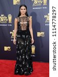 camila mendes at the 2018 mtv... | Shutterstock . vector #1114778297