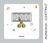 vector icon of cinema filmstrip ... | Shutterstock .eps vector #1114779617