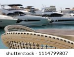 chairs along the docks with... | Shutterstock . vector #1114799807