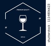 wineglass symbol icon | Shutterstock .eps vector #1114806623