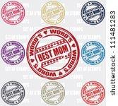 best mom set of stamps | Shutterstock .eps vector #111481283