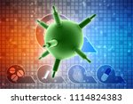 3d rendering viruses in... | Shutterstock . vector #1114824383