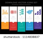 5 vector icons such as bar... | Shutterstock .eps vector #1114838837