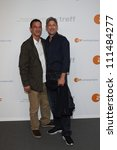 Small photo of BERLIN, GERMANY - JULY 02: Soenke Moehring and brother Wotan Wilke Moehring attend ZDF Summer Reception on July 2, 2012 in Berlin, Germany.