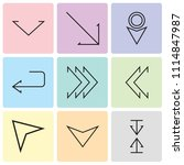 set of 9 simple editable icons... | Shutterstock .eps vector #1114847987