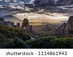 meteora   great landscape og...   Shutterstock . vector #1114861943