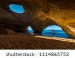 benagil cave in portimao  ...   Shutterstock . vector #1114865753