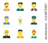 set of 9 simple editable icons... | Shutterstock .eps vector #1114875587