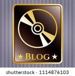 gold shiny embl gold shiny... | Shutterstock .eps vector #1114876103