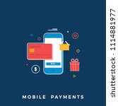 mobile payments business... | Shutterstock .eps vector #1114881977