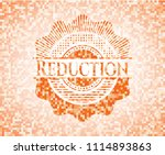 reduction abstract orange... | Shutterstock .eps vector #1114893863
