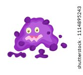 cute funny bacterias  germs  in ... | Shutterstock .eps vector #1114895243