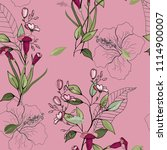 retro wild seamless flower... | Shutterstock .eps vector #1114900007