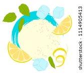pattern lemonade  carbonated... | Shutterstock .eps vector #1114905413