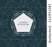 linear geometry background with ...   Shutterstock .eps vector #1114911587