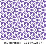 seamless pattern with symmetric ... | Shutterstock .eps vector #1114912577