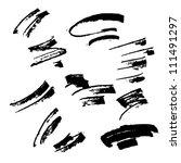 set of grunge vector pen | Shutterstock .eps vector #111491297