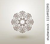 linear circular ornament....   Shutterstock .eps vector #1114932593