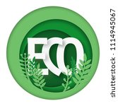eco friendly product logo with... | Shutterstock .eps vector #1114945067