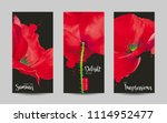luxurious bright red vector... | Shutterstock .eps vector #1114952477