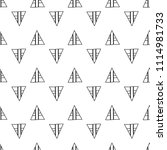 triangles. black and white... | Shutterstock .eps vector #1114981733