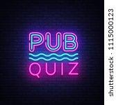 pub quiz night announcement... | Shutterstock .eps vector #1115000123