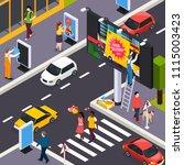 advertising agency installers... | Shutterstock .eps vector #1115003423