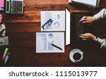 newsletter concept hand of...   Shutterstock . vector #1115013977