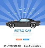 website design with classic... | Shutterstock . vector #1115021093