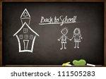 back to school chalkboard  ...   Shutterstock .eps vector #111505283