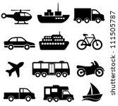 transportation icon set on... | Shutterstock .eps vector #111505787