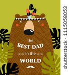 """vector poster with a bear """"the...   Shutterstock .eps vector #1115058053"""
