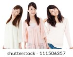 Beautiful young women. Portrait of asian - stock photo